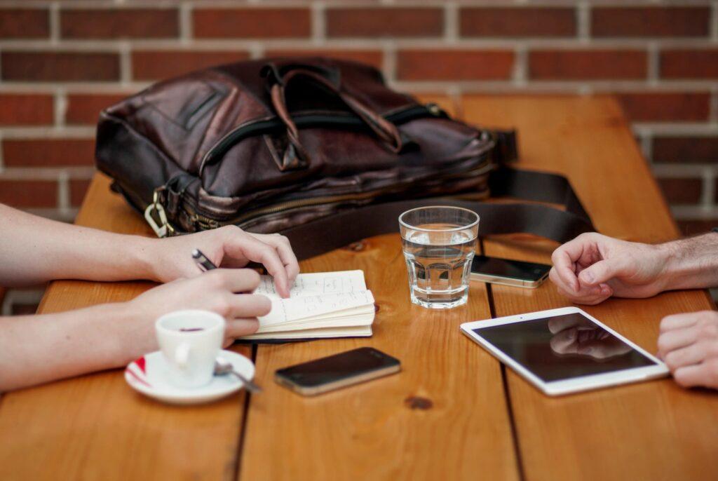 Meetings in Coffee Shop